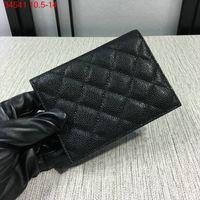 Wholesale Gold Hardware - Free shipping!Genuine lambskin   caviar Leather Gold hardware passport wallet women classic luxury lattice card holders 31541