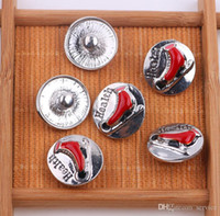 Wholesale Wholesale Shoes Jewerly - 12Pcs The skating shoes Button 18mm Button Ginger Snap Charms Jewelry Interchangeable Jewerly Charms Pendants Necklace 2017 Christmas
