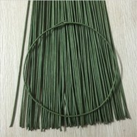Wholesale Wholesale Artificial Wreath Supplies - 50pcs Iron Wire Garland Branches Fitting DIY Wreath Supplies Artificial Flower For Wedding Home Decoration Mariage Flores Plant