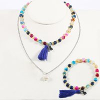 Wholesale Handmade Bear - TL Gold Silver Bear Jewelry Set Wholesale High Quality Handmade Bead Jewelry Set Brand Jewelry Set