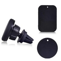 Wholesale free one touch - Newest Magnetic 360 Degree Rotation Air Vent One Touch Car Mount Phone Holder For Universal Phones With Retail Package Free Shipping