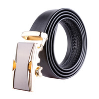 Wholesale mens adjustable belts - Mens Leather Belts for Men Ratchet Dress Belt Geniue Adjustable Ratchet Cowboy Casual Alloy Automatic Buckle Waistband 3.5cm 130cm bzw18