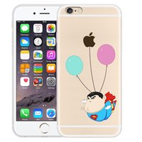 Wholesale Best Back Covers - Transparent TPU coloured drawing phone case for iphone 6 6S 6 plus 6S plus best gift Creative case cover back