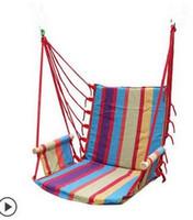 ingrosso altalene per la camera da letto-All'ingrosso-amaca all'aperto camera da letto altalena inviare inviare legatura del sacchetto colori oscillante appeso sedia amaca tela spessa