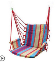 Wholesale Swings Chairs - Wholesale- hammock outdoor dormitory bedroom swing send tying pouch colors Swinging hanging chair hammock thick canvas