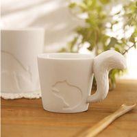 velas animais venda por atacado-Atacado-1Pcs New KEYAMA translúcido Small Animals Relief xícara de café da manhã caneca de café Cerâmica copos de café Cerâmica Castiçal Castiçal
