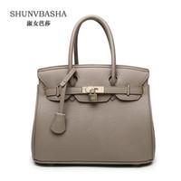 Wholesale plain ladies tops - Wholesale- Top fashion Women's handbags PU Leather Handbag Lady Belt decorate Single Shoulder Bag Luxury female High Quality Top-handle bag