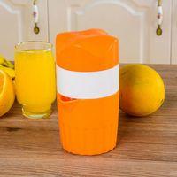 plastik zitruspresse großhandel-Orangensaftpresse Kunststoff Hand Manuell Orangensaft Obstpresse Zitruspresse Fruchtreibahlen Obst Gemüse Werkzeuge 30 stück OOA2213