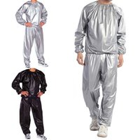 Wholesale Fitness Sauna - Running Cycling Sweat Track Sauna Suit Fitness Weight Loss Exercise Sport L-5XL