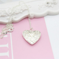 Wholesale Gift Tin Can - Fashion Exquisite 925 Silver Heart Pendant Necklaces Can Be Opened For Girlfriend Gift Collarbone Chain Necklace