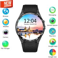 Wholesale Iphone Os - KW88 smart watch Android 5.1 OS MTK6580 CPU 1.39 inch Screen 2.0MP camera 3G WIFI GPS Heart Rate smartwatch for iphone Android smart phone