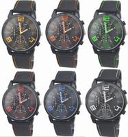 Wholesale aviator quartz sports resale online - 100pcs Mix Colors Men Causal SPORT Military Pilot Aviator Army Silicone GT Watches RW018