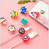 Wholesale Cartoon Iphone Protector - 1000pcs lot* Lovely Cute Cartoon Cord Saver Cover For Apple iPhone 8 Pin Charger Cable Protector Saver   Protective winder