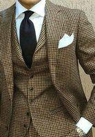 Wholesale new design suit pant for men for sale - Group buy 2018 New Coat Pant Design Houndstooth Mens Tuxedos Groom s Wear Tuxedo Wedding Suits For Men Blazer Masculino Plus Size suit vest pant