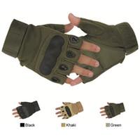 пальцевые перчатки оптовых-Безопасность Спорта На Открытом Воздухе Горячей Продажи Мода Мотоцикл Перчатки Унисекс Guantes Половина Палец Зеленый Черный Качество Дышащий Перчатки Бесплатная Доставка
