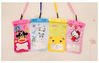 Wholesale 2017 Hot Sale Cartoon Telephone Sheer PVC Waterproof Bag Hanging Neck Swimming Outdoor Accessories