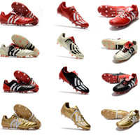 Chaussure En Or Champagne Pas Cher-Original Gold Colors Mens Predator Mania Bottes de champagne Champagne Champagne FG Soccer Shoes Meilleur qualité Football Cleats