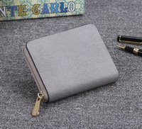Wholesale Real Fur Handbags - High Qaulity Burse Women Notecase Fashion Purses Real Leather Zippers Wallets Cross Pattern Brand Designer Letters Handbags Cards Holders