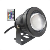 Wholesale Ip68 Light Housing - LED RGB underwater light color changing 10W LED fountain light DC AC 12V with aluminum housing IP68 1 IR remote controller