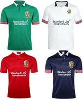 Wholesale Lions Shirt Xl - 2017 2018 new Thai quality Ireland British Irish Lions euro Rugby Jerseys home red away white black green Men rugby shirts Size S - 3XL