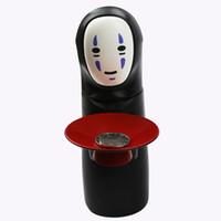 juguete cerdito al por mayor-Colección de Monedas Automáticas Juguete Fidget Spirited Away No Face Fun Música Eléctrica Piggy Bank Novedad Colector de Monedas de Plástico Modelo Nuevo 48tm B R