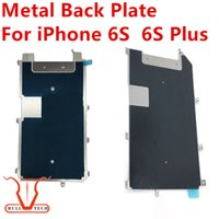 Wholesale Heat Shield Cover - For iphone 6S 6s plus LCD Metal Shield Plate Bezel Replacement LCD Backplate Cover Part Refurbishment With Heat Dissipation Adhesive Sticker