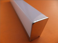 cubierta de perfil de tira de led al por mayor-Costo de envío gratuito Hot 6063 series templado perfil de aluminio con cubierta para luz led con cubierta de lente / tira de LED canal de aluminio