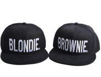 Wholesale Snapbacks Love - Fashion brand Baseball cap Men Women BLONDIE BROWNIE Letter Couple Sun hat Snapback Show love Hat Hip Hop Caps