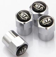 Wholesale caps for rims - 4pcs mini Chrome Tire Wheel Rims Stems Air Valve Caps Tyre Cover For KIA K2 K3 K5
