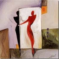 paneles de imagenes de pinturas al por mayor-Pinturas al óleo abstractas de Alfred Gockel Imagen de espejo Arte de alta calidad pintado a mano sobre lienzo