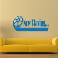 Wholesale Country Quotes - Cool Graphics Now Playing Home Theater Vinyl Wall Quote Decal Decor Sticker Living Room Creative Decorative Murals Vinyl Art Diy