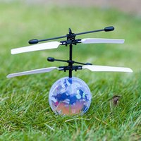 Wholesale Mini Rc Toy Ufo - Crystal flying ball Vehicle Flying RC Flying Ball Infrared Sense Induction Mini Aircraft Flashing Light Remote Control UFO Toys for Kids
