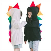 erkek çocuk ceket toptan satış-Dinozor Hoodies Boys Karikatür Ceketler Çocuklar Hayvan Mont Yürüyor Polar Tops Dış Giyim Çocuk Ins Tişörtü Jumper Bebek Çocuk Giyim B3329