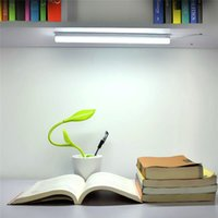 Wholesale Bar Light Camping - Wholesale- 1Pcs Three Colors changeable Portable USB LED Night light DC 5V Tube Rigid Strip Bar lights Desk lamp For Reading & Camping bu
