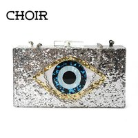 Wholesale Evening Bling Top - Wholesale-Limited TOP Quality Bling Eye Acrylic Luxury handbag Shoulder Evening Bag Designer New Clutch Phone Cosmetics Party Bags Purse