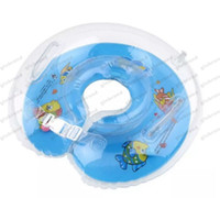 Wholesale Baby Aids Infant Swimming - 2017 NEW fashion Baby Aids Infant Swimming Neck Float Inflatable Tube Ring Safety New Neck MC free shipping GLO