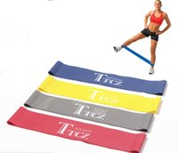 Latex Elastic Pilates Yoga Resistance Band Loop Leg Muscle Strength Trainning Gym Fitness Exercise Workout Band Equipamentos esportivos 4 níveis
