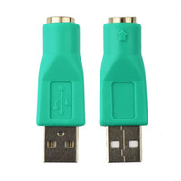 Wholesale ps2 adapters online - USB Male To PS2 Female Adapter Converter for Computer PC Keyboard Mouse