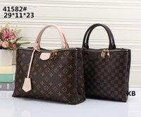 Wholesale Faux Ostrich Purses Handbags - New styles Handbag Famous Designer Brand Name Fashion Leather Handbags Women Tote Shoulder Bags Lady Leather Handbags Bags purse L41582