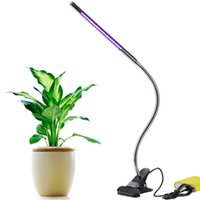 Wholesale Garden Clips - Led Grow Lights 5W Adjustable 3 Level Dimmable Clip Desk Lamp for Indoor Plants with 360°Flexible Goose-Neck for Office Home Indoor Garden