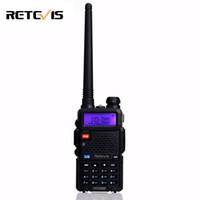 transceptor 3km al por mayor-Al por mayor-Handy 5W Walkie Talkie Retevis RT-5R VHF UHF 136-174400-520MHz VOX FM portátil Ham Radio de dos vías cb Radio Transmisor RT5R