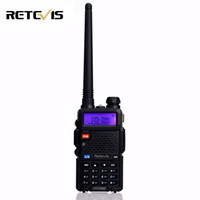 Wholesale Handy Talkie Vhf - Wholesale- Handy 5W Walkie Talkie Retevis RT-5R VHF UHF 136-174&400-520MHz VOX FM Portable Ham Radio Two Way cb Radio Transceiver RT5R