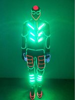 Wholesale Stage Custom Clothing - OISK EL Wire Light up Costumes Party Suits Amazing Party Supplies DJ Club Wears LED Glowing Clothes Fashion Stage Wears Custom Quality