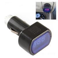 ingrosso batteria del misuratore elettrico-Accendisigari auto auto elettrica DC 12V-24V Display accendisigari batteria Voltage Meter Tester Accendisigari auto