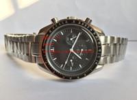 paslanmaz çelik kronograf saat tedarikçileri toptan satış-Fabrika Tedarikçisi En kaliteli Lüks Kol Saatleri 42mm Ön-sahip 3510.50 Paslanmaz Çelik Kuvars Chronograph Siyah Dial Mens İzle Saatler