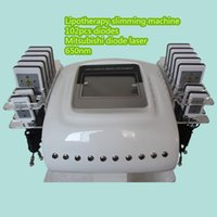 Wholesale Lipolaser Lipolysis Slimming Machine - Portable 650nm Diode Laser LLLT Lipolysis Body Slimming Lipolaser 14pcs Pads Beauty Lipo Laser Slimming Machine