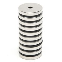 Atacado- 10pcs / Set Disc Mini 29.7x4.7mm com furo 5mm N52 Terra rara Forte Ímã de neodímio Bulk Super Strong Round Shape Magnets