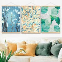 Wholesale Simple Abstract Paintings Canvas - Small fresh floral pattern Nordic modern simple watercolor small fresh decoration painting room bedroom restaurant painting