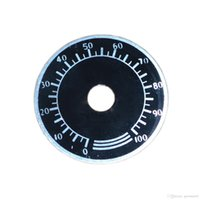 Wholesale Chinese Led Reef - Dimmer Dial Label 0~100% Percent for Chinese Black Box Mars Aqua Dimmable LED Light 120w 165w Basic Reef LED Aquarium Lighting..