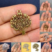 60pcs-Antique Bronze Tibetano Silver Gold Tree Of Life Tree Leaf Você é meu especial Angel Leaf Branch Charms Pendant Connector DIY Jóias